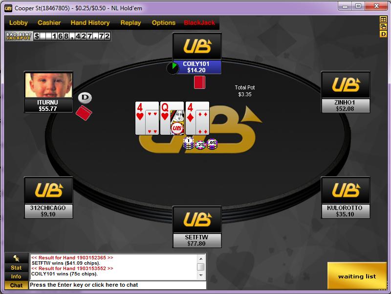 Ub poker room